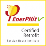 EnerPHit Logo for certified construction projects